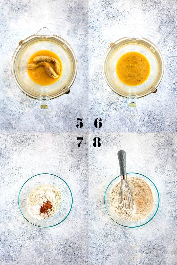 How to prepare Strawberry Banana Muffins, steps 5-8.