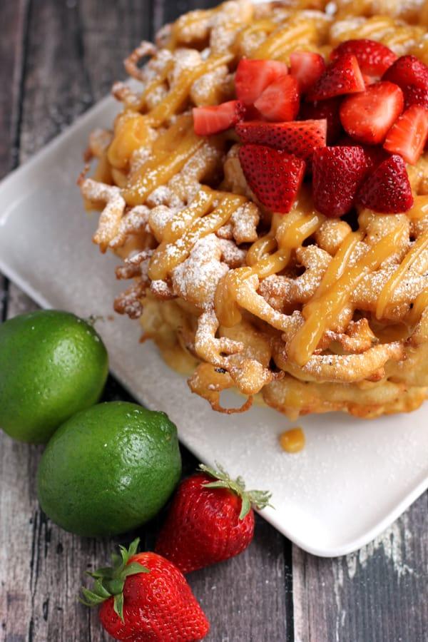 Strawberry Funnel Cake Cupcakes Recipe