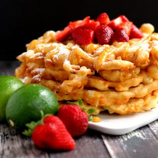 Strawberry Margarita Funnel Cake | Melanie Makes melaniemakes.com