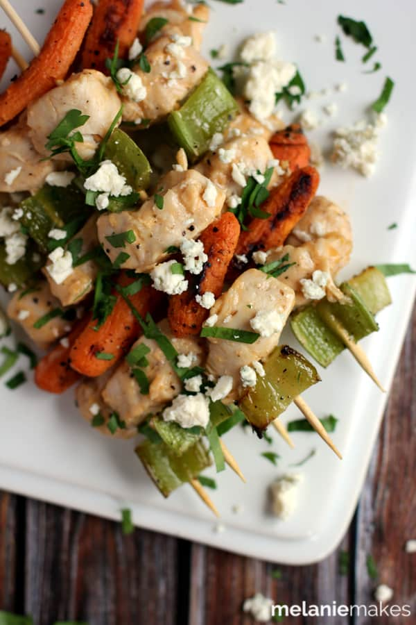 Buffalo Bleu Cheese Chicken Skewers | Melanie Makes melaniemakes.com