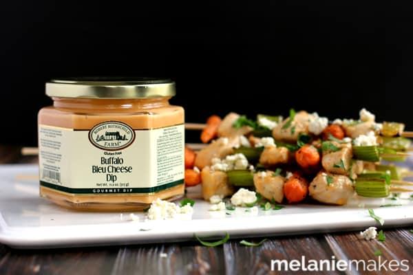 Buffalo Bleu Cheese Chicken Skewers | Melanie Makes melaniemakes.com