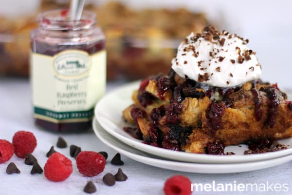 Chocolate Raspberry French Toast Casserole | Melanie Makes