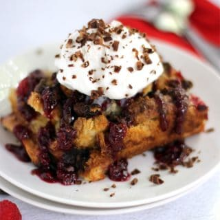chocolate raspberry french toast casserole fg