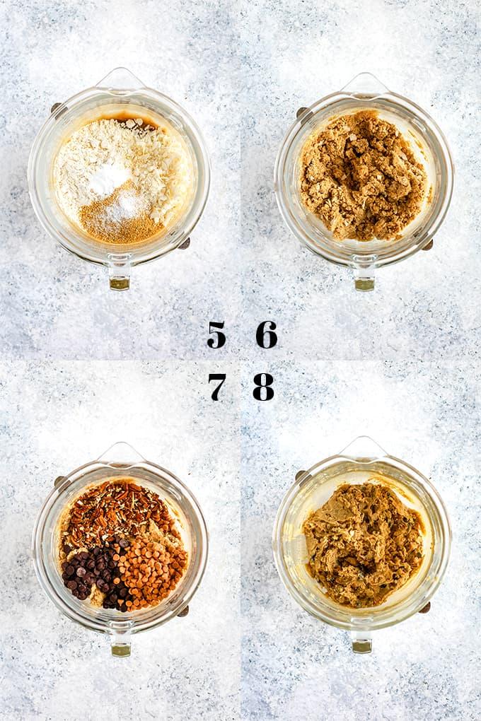 How to prepare Magic Cookie Bar Cookies, steps 5-8.
