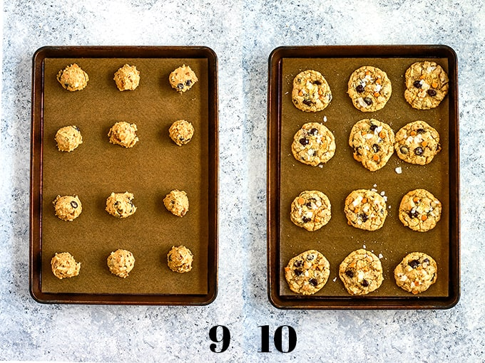 How to prepare Magic Cookie Bar Cookies, steps 9-10.