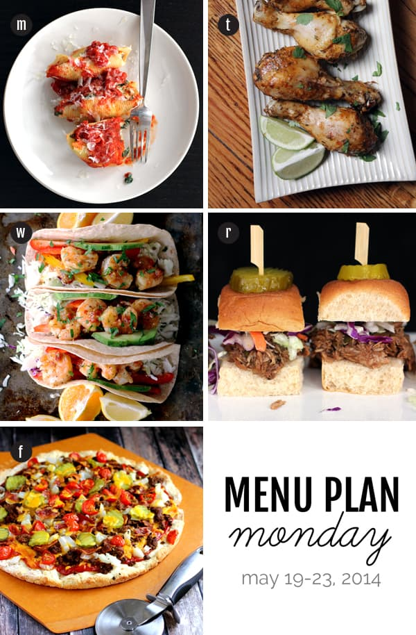 Menu Plan Monday: May 19-23, 2014 | Melanie Makes