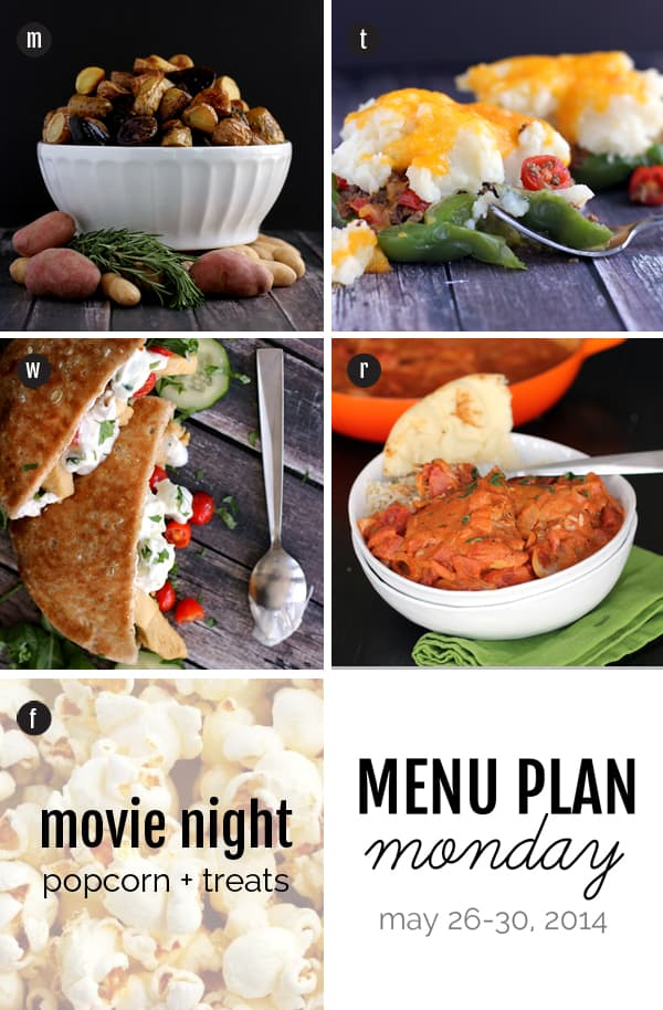 Menu Plan Monday: May 25-30, 2014 | Melanie Makes