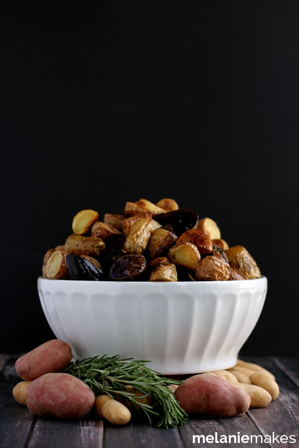 Roasted Balsamic Rosemary Potato Salad | Melanie Makes melaniemakes.com
