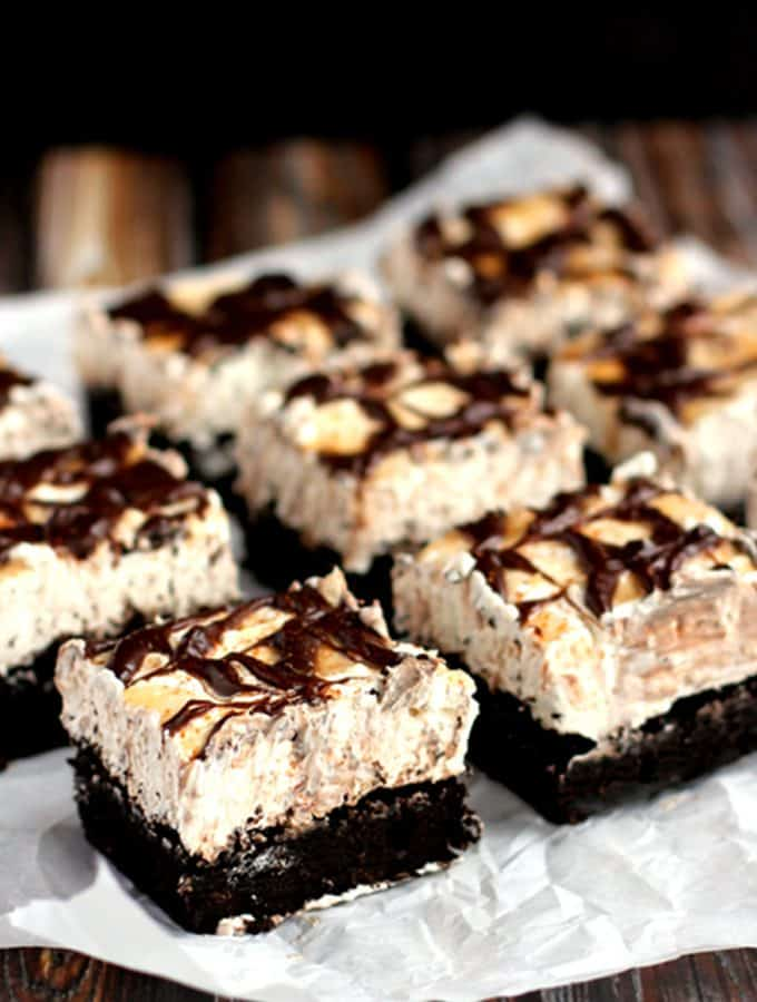Snickerdoodle Cheesecake Brownie Bars | Melanie Makes