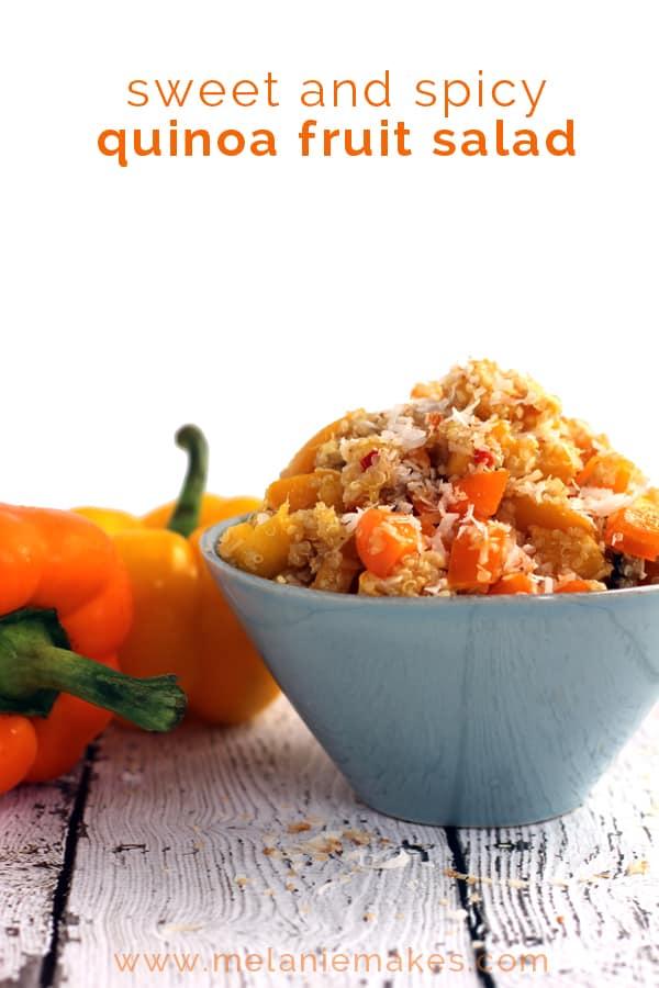 Sweet and Spicy Quinoa Fruit Salad   Melanie Makes melaniemakes.com