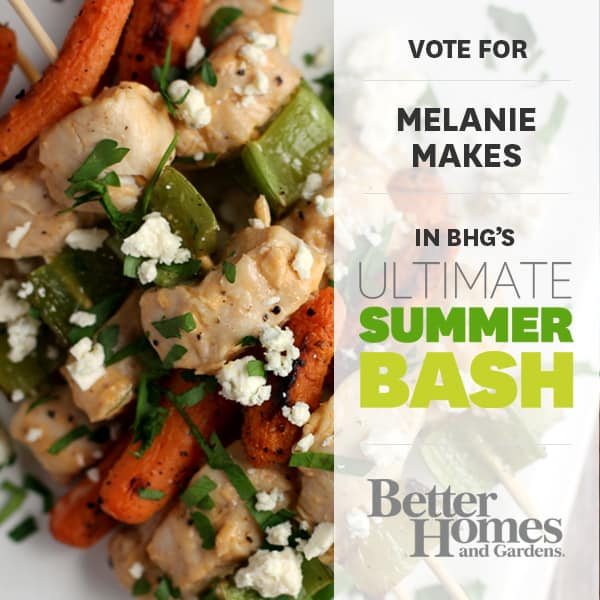 BHG Summer Bash - Buffalo Bleu Cheese Chicken Skewers | Melanie Makes