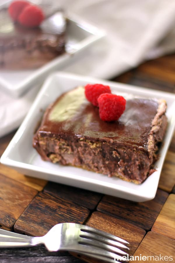 Double Chocolate Eclair Cake | Melanie Makes
