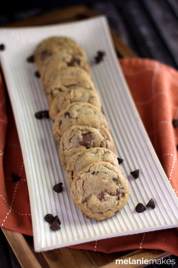 Double Peanut Butter Bacon Chocolate Chip Cookies   Melanie Makes