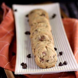 Double Peanut Butter Bacon Chocolate Chip Cookies | Melanie Makes