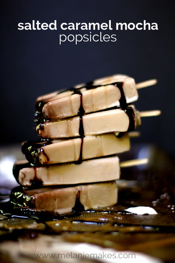 Salted Caramel Mocha Popsicles | Melanie Makes