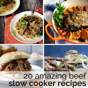 20 Amazing Beef Slow Cooker Recipes | Melanie Makes