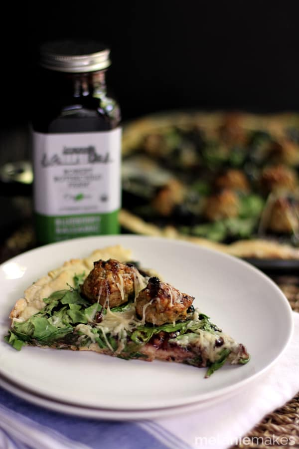 Blueberry Balsamic Chicken Meatball Pizza | Melanie Makes