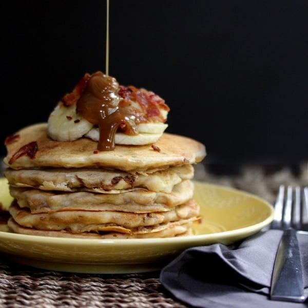 Peanut Butter Banana Bacon Pancakes | Melanie Makes