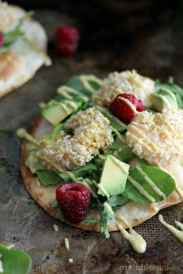 Raspberry Wasabi Shrimp Tostadas | Melanie Makes