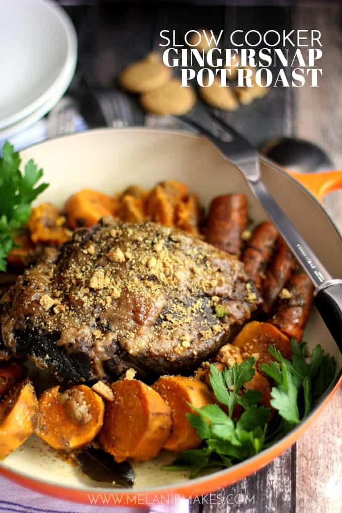 Slow Cooker Gingersnap Pot Roast   Melanie Makes