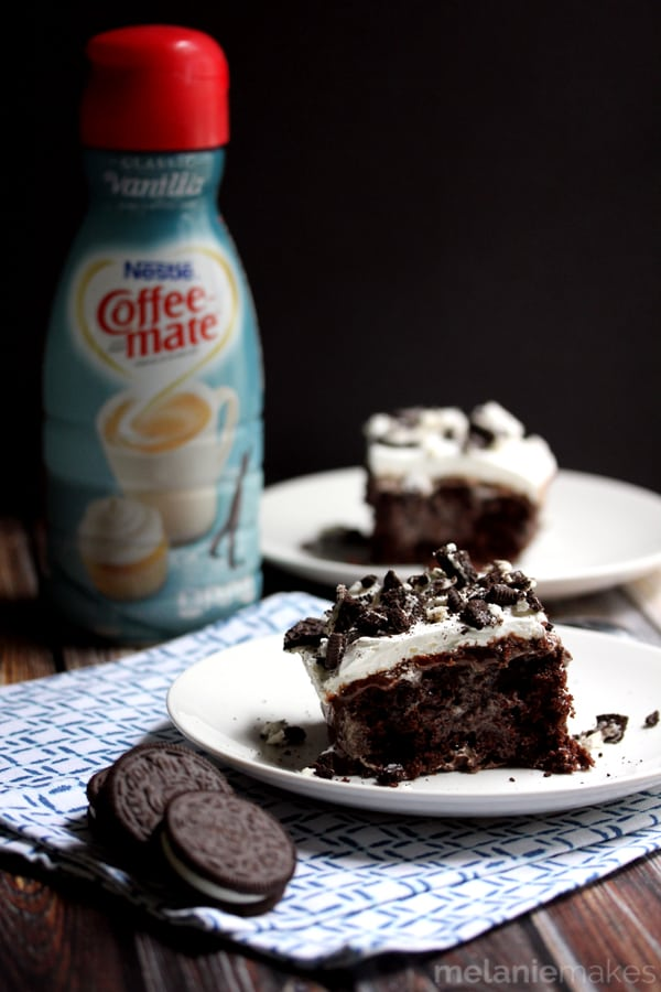 Cookies 'n Cream Poke Cake | Melanie Makes