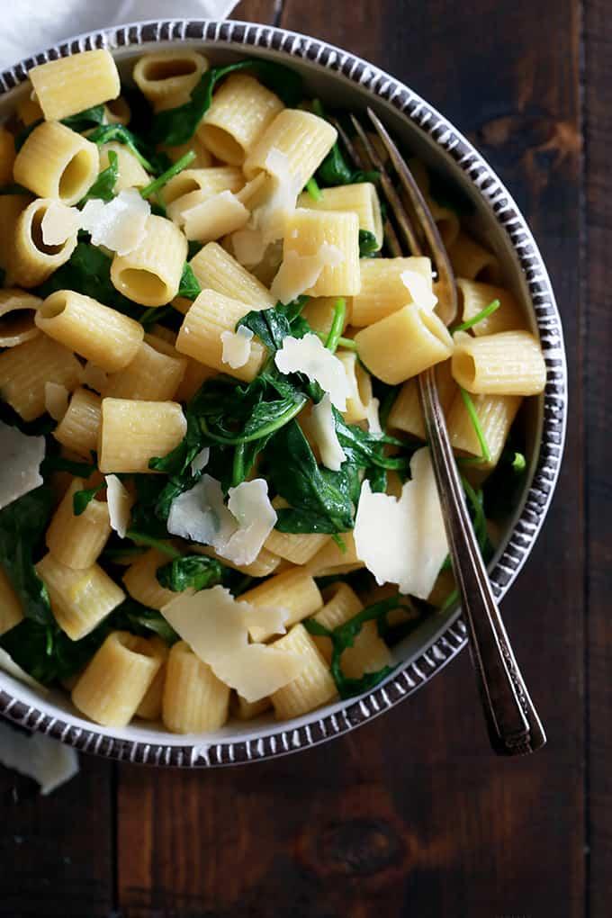 Lemon Arugula Pasta | Melanie Makes
