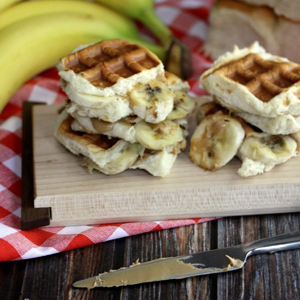 The King's Waffled Peanut Butter and Banana Sliders | Melanie Makes