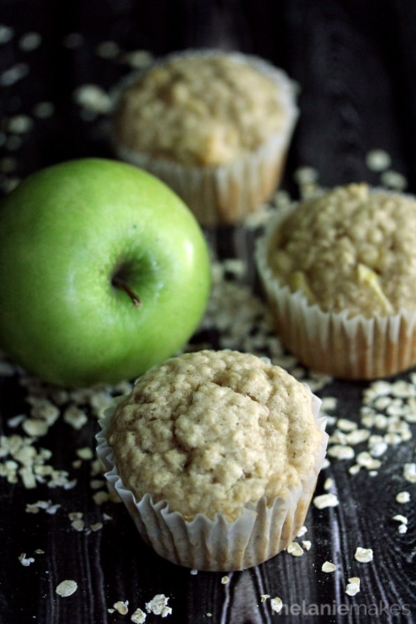 Cinnamon Apple Oatmeal Muffins | Melanie Makes
