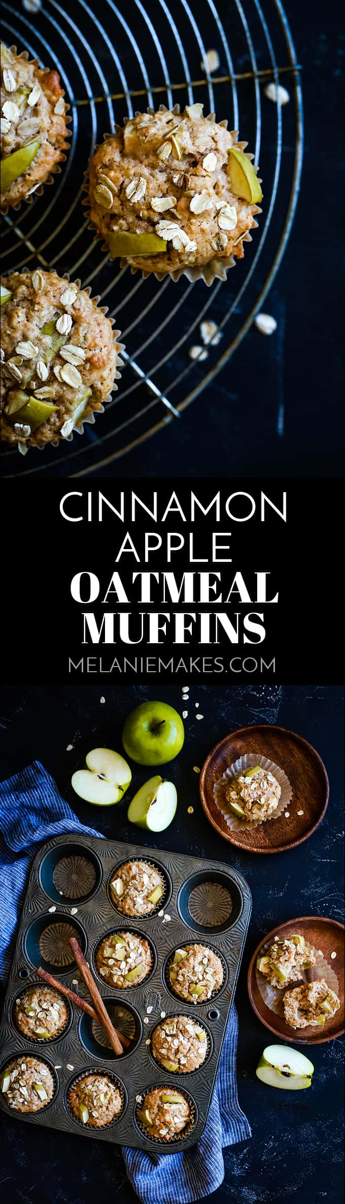 Just five minutes of prep is all that stands between you and a dozen of these delicious Cinnamon Apple Oatmeal Muffins.  I guarantee you'll love my shortcut ingredient!