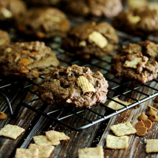 Double Chocolate Cinnamon Crunch Cookies | Melanie Makes