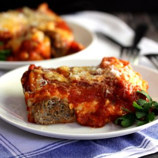 Four Cheese Meatball and Sweet Pepper Lasagna | Melanie Makes