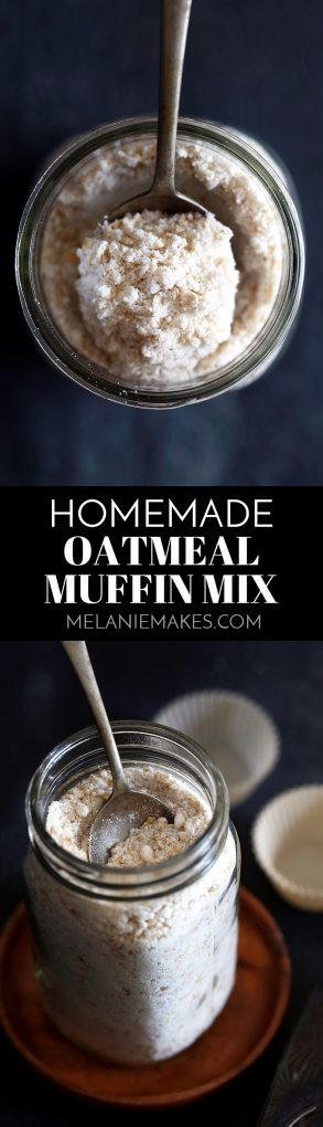 This six ingredient Homemade Oatmeal Muffin Mix is perfect to keep on hand in your pantry for a quick breakfast and also makes a great gift. Why buy store bought when homemade is better for you and your wallet?