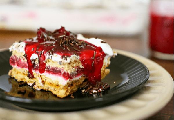 Cherry Pie Ice Box Cake