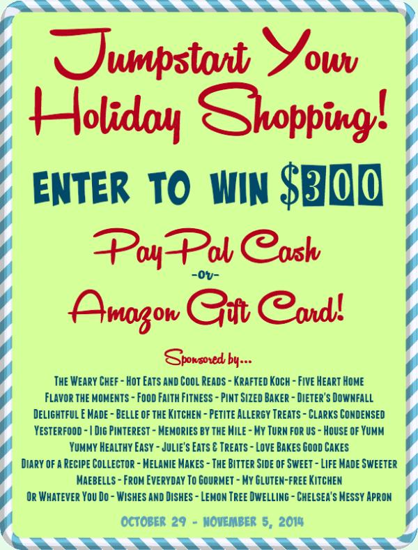 $300 Jumpstart Holiday Cash Giveaway