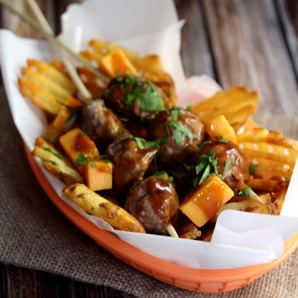 Meatball Poutine | Melanie Makes