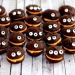 Mini Monster Chocolate Whoopie Pies with Orange Cream Filling | Melanie Makes