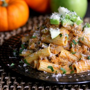 Pumpkin Pasta with Sausage and Apples | Melanie Makes