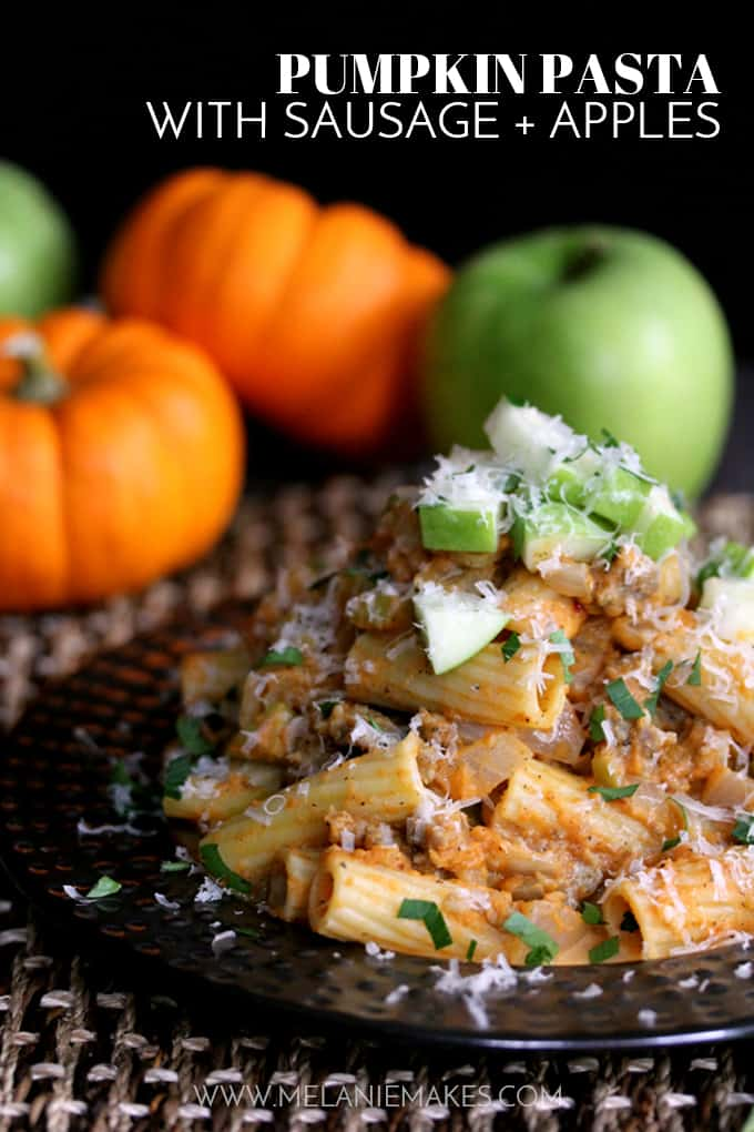 Pumpkin Pasta with Sausage and Apples | Thanksgiving Pasta Recipes | Homemade Recipes