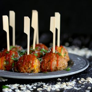 Sharp Cheddar Stuffed Turkey Meatloaf Meatballs | Melanie Makes