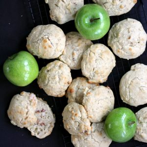Apple Maple Bacon Drop Biscuits | Melanie Makes