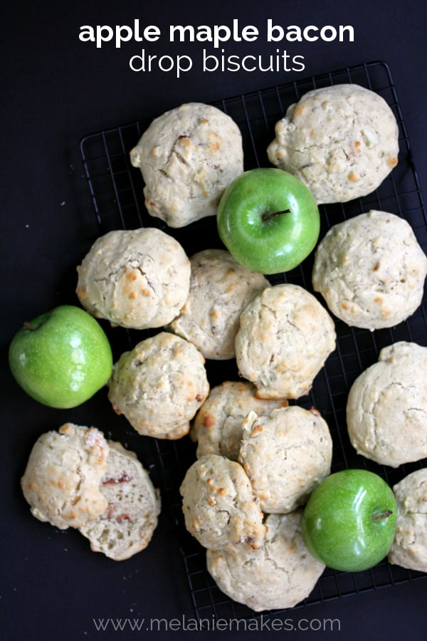 Apple Maple Bacon Drop Biscuits   Melanie Makes