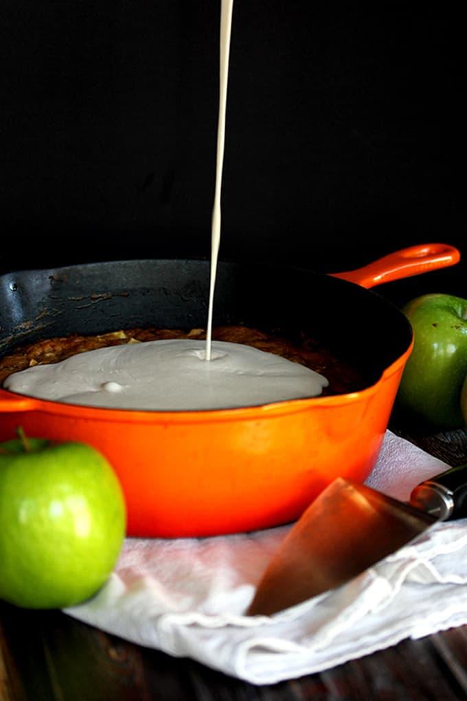 Apple Skillet Cake   Melanie Makes