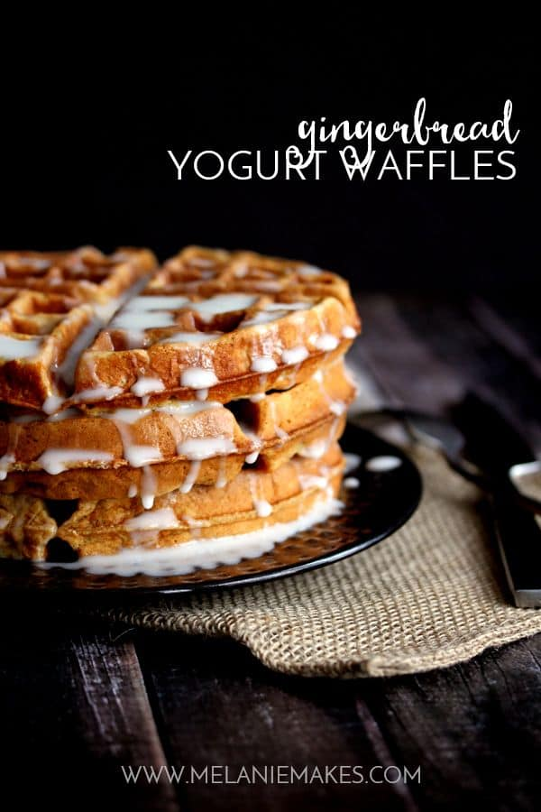 Gingerbread Yogurt Waffles | Melanie Makes