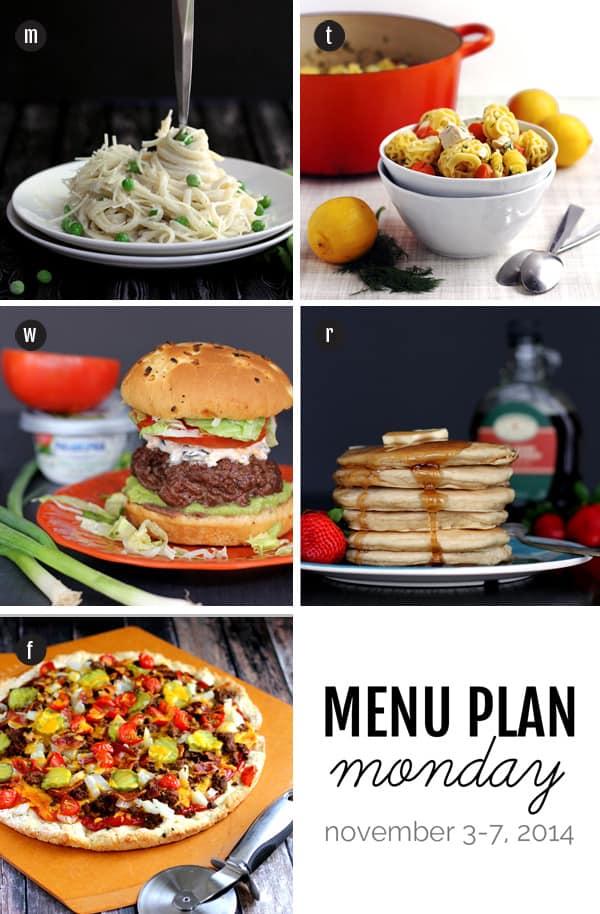 Menu Plan Monday - November 3, 2014 | Melanie Makes
