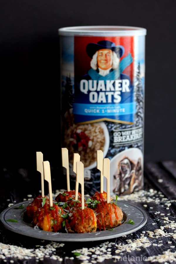 The comforting goodness of meatloaf in a hearty appetizer bite. Stuffed with cheese and drizzled with ketchup, these Sharp Cheddar Stuffed Turkey Meatloaf Meatballs are sure to be a hit at your next gathering.