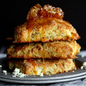 Blue Cheese Walnut Scones | Melanie Makes