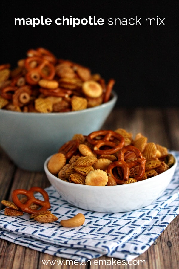 Maple Chipotle Snack Mix | Melanie Makes