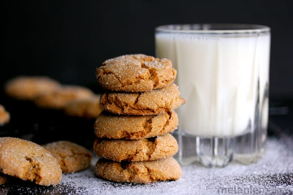 Soft and Chewy Ginger Cookies | Melanie Makes