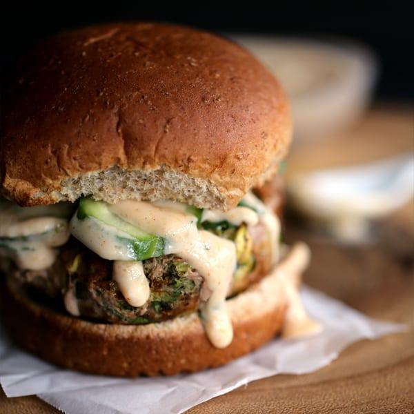 Turkey Tikka Burger | Melanie Makes