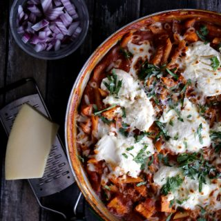 Barbecue Chicken Pizza Skillet Lasagna | Melanie Makes